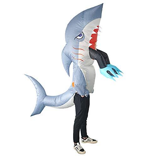 WUYEA Halloween Aufblasbar Kostüm Hai Piranha Anime Performance Cosplay Kostüm Für Erwachsene