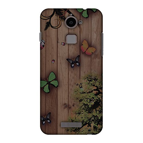 AMZER Slim Handcrafted Designer Printed Hard Shell Cases for Coolpad Note 3 Lite - Bonsai Butterfly