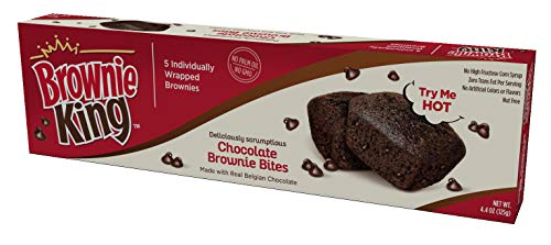Brownie Bites by Brownie King | Snack Packs for Kids & Adults | Made with Real Belgian Chocolate | 5...