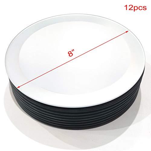 U HOME Spiegel-Kerzen-Teller, rund, 20 mm, Weiß, 10 Stück