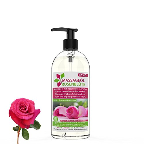 Massageöl Aroma Rose/Rosenblüte 250ml MyThaiMassage - Aromaöl für Thai Massage Wellness Spa