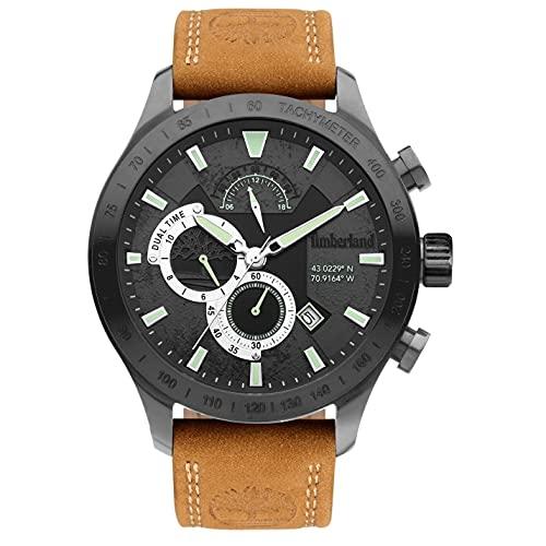 Timberland Herren Analog Quarz Uhr mit Leder Armband TDWGF2100202