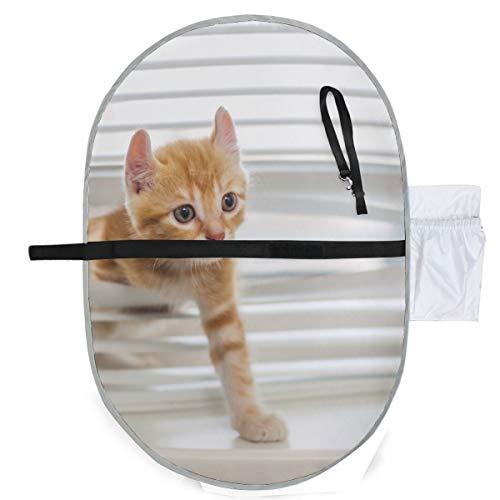 Naughty Pet Cute Cat Baby - Cambiador de pañales para bebé, pañales, tapete para bebé, 27x10 pulgadas, impermeable, plegable, bebé, cambiador portátil, pañal para bebé