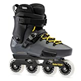 Rollerblade Twister Edge Men's Adult Fitness Inline Skate, Anthracite and Yellow, High Performance Inline Skates, 13