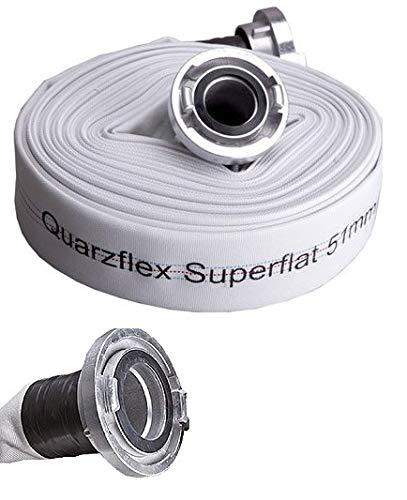 Quarzflex® Industrie Bauschlauch C 52 mm 20 m Rolle incl. Gummischutz