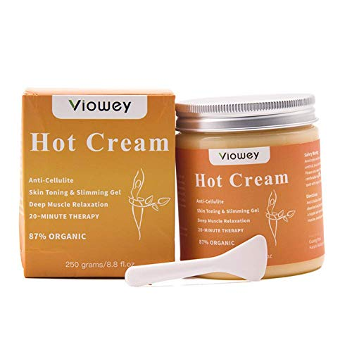 Hot Massage Cream, Cellulite Hot Cream, Body Slimming Firming Fat Burner for Tightening Skin Weight Loss Body Shaper, 8.8 Ounce