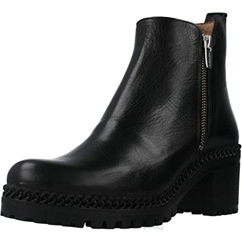 Wonders Damen Stiefelleten Boots H3924 Schwarz 38 EU