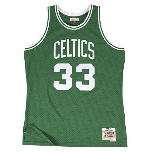 Mitchell & Ness Boston Celtics Larry Bird 1985 Road Swingman Jersey (X-Large)