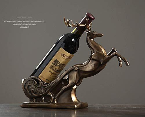 GLX Botellero Elk Decoración Creativa Decoración Estatua
