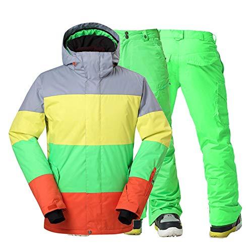 Traje de esquiar El juego del desgaste 10k impermeables trajes de chaquetas de esquí y nieve Pant deportes al aire libre a prueba de viento snowboard ropa de invierno de los hombres Conjuntos de Hombr