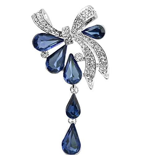 N\C Broches De Lazo De Moda para Mujer, Broche De Estilo Gota De Agua con Diamantes De ImitacióN, 3 Colores Disponibles, JoyeríA De Verano De 2021