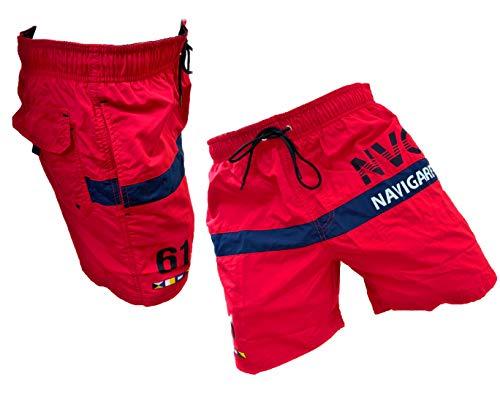 Navigare Boxer Mare Costume Uomo Pantaloncini da Bagno Swim Short 098370 (Red Race 098346, XL)