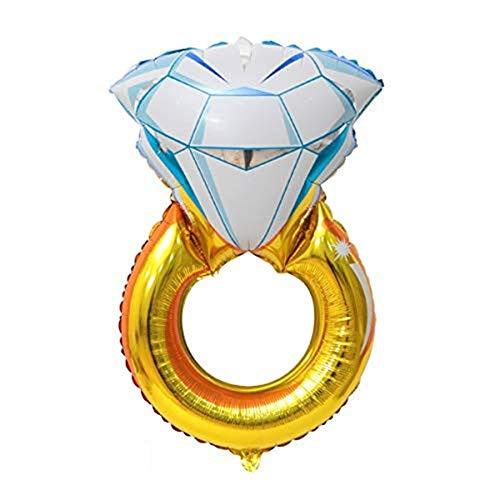Globos de anillo de boda de diamantes gigantes, globos de papel de aluminio, románticos para bodas, despedidas de soltera, aniversario
