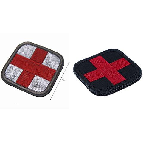 Harilla 2 Stück 2 X 2 Zoll Medic Erste Hilfe Rotes Kreuz Patch Hook & Loop Backing