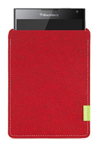 WildTech Sleeve für BlackBerry Passport Hülle Tasche - 17 Farben (Handmade in Germany) - Kirschrot