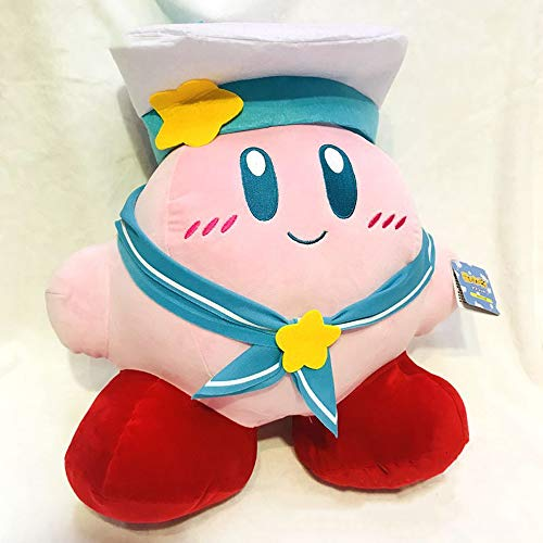 Kirby Knuffels, Roze Kirby Poppen Met Karakterkarakters, Mooie Kirby Met Marinierservice Marinepakspeelgoed, Kerstcadeaus Voor Kinderen, 35Cm