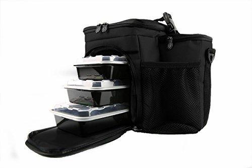 Isolator Fitness Isobag 3 Mahlzeiten Management System Schwarz/Schwarz - Isolierte Mahlzeiten-Kühltasche