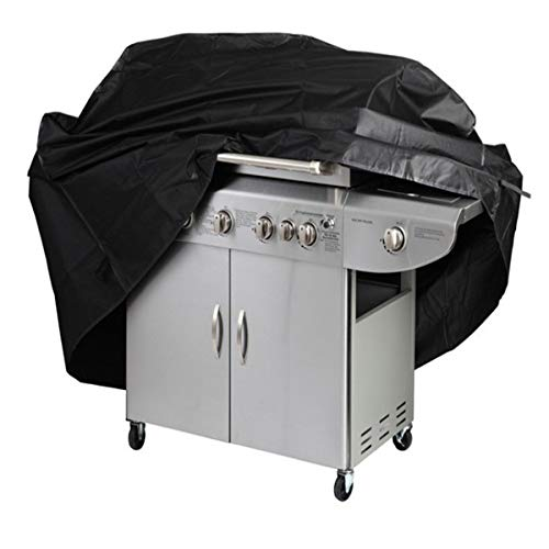 Generic Garden Patio BBQ Cover 57Inch 600D Heavy Duty Waterproof Gas Grill Black Cover