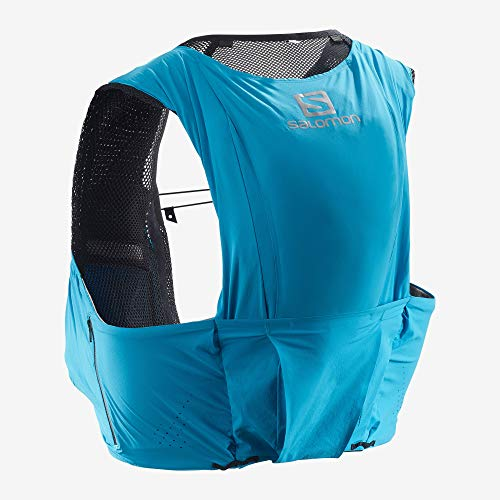 Salomon S/Lab Sense Ultra 8 Set Unisex Trail Running Vest Backpack, Transcend Blue, Large