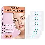 Face Lift Stickers,Face Lift Tape,Adhesivo Lifting Facial,Cinta Adhesiva Facial,Cinta de Estiramiento Facial, Invisibles Maquillaje Herramientas de Lifting Facial para Rostro,40 Piezas