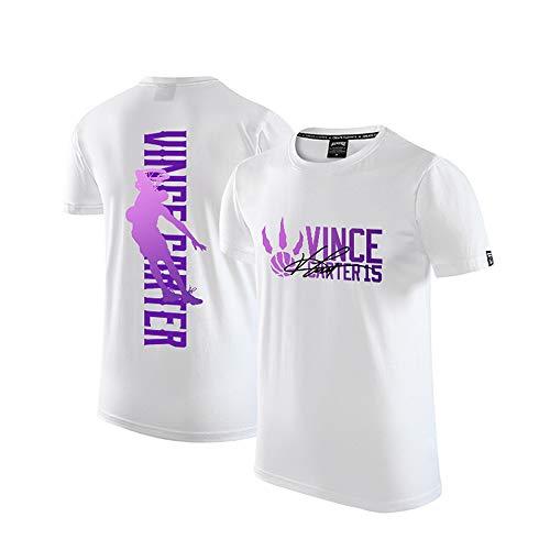 Raptors Vince Carter T-Shirt, Camiseta de Manga Corta de Entrenamiento Retro de Baloncesto Retirado