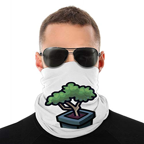 Bonsai Tree Face Headband Unisex Windproof Scarf Seamless Bandana for Outdoor Activities White