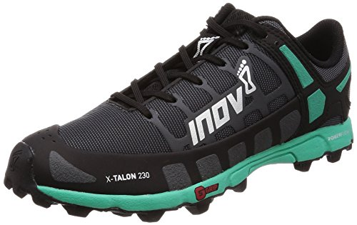 Inov-8 Womens X-Talon 230 - Lightweight OCR Trail Running Shoes - for Spartan, Obstacle Races and Mud Run - Grey/Teal 10 W US