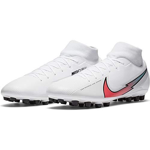 Nike Superfly 7 Academy AG White Flash Crimson Hyper Jade - Botas de fútbol para hombre (Numeric_41)