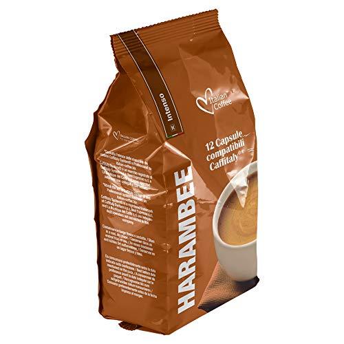 Caffitaly 96:cápsulas de café compatibles, mezcla intensa Harambee, café italiano