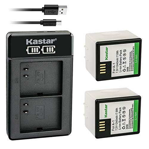 Kastar 2X Battery and LTD2 USB Charger Replacement for Arlo A-1, Arlo A-1B, Arlo A-1C, P/N: 308-10029-01, Arlo Pro, Arlo VMC4030, Arlo Pro 2, Arlo Security Light VMA4400 Netgear, Arlo VMS4230-100PAS