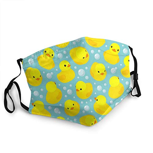 Face Mask Reusable Kids Yellow Rubber Duck Washable Men Women Cloth Dust Face Cover Shield Balaclava Outdoor Sports Black