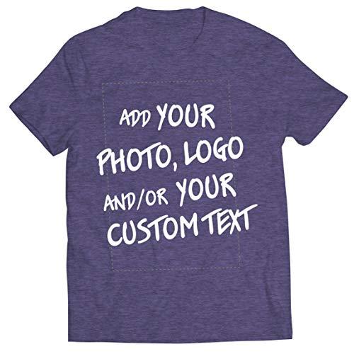 lepni.me Camisetas Hombre Regalo Personalizado, Agregar Logotipo de la Compañía, Diseño Propio o Foto (Medium Cuero Gris Multicolor)