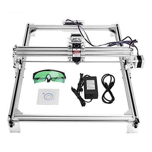 Talladora láser grabador DIY tallador Kit de tallado, 12 V USB área de grabado 30 x 40 cm, impresora láser de escritorio ajustable talla y corte con gafas protectoras