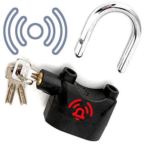 Candado con alarma para cadena de bicicleta, protección extra para bicicletas, cercado para moto, barco, seguridad, dispositivo antirrobo