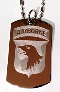 Army 3rd Infantry Division Brown Embroidered Key Chain Eagle Crest U.S