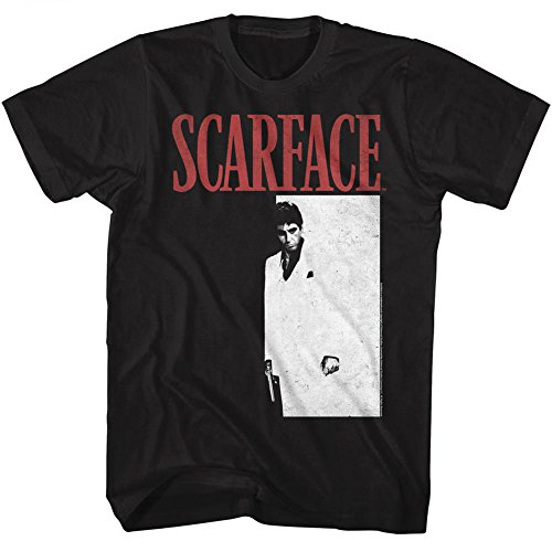 American Classics Scarface 1983 Crime Film Movie Meng Black Adult T-Shirt Tee