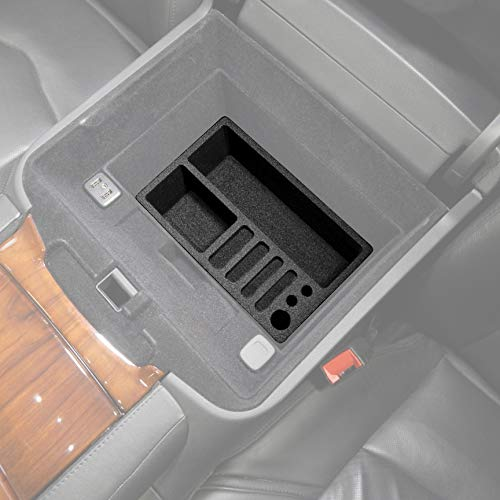 JessicaAlba Armrest Storage Organizer Center Console Tray Divider For Cadillac Escalade 2015 2016 2017