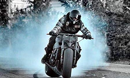 Black Universal Fiber Glass FRP Motorcycle Headlight Fairing Racing Skeleton Skull Headlight