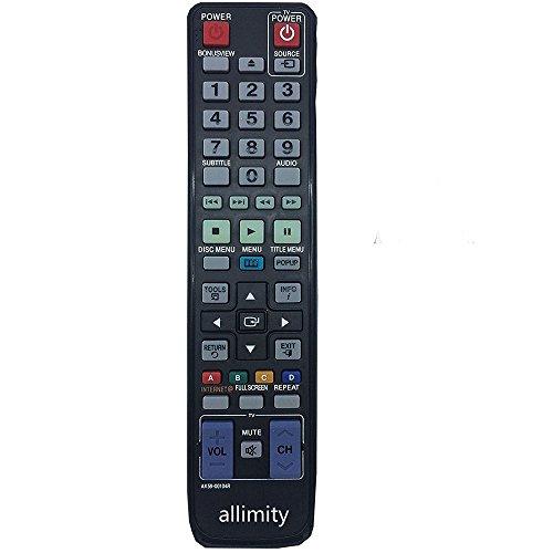 allimity AK59-00104R Ersetzen Fernbedienung passend für SAMSUNG Blu Ray Player BDC5500XTC BDC5900XEU BDC5500XCH BDC6500XSA BDC6500XSS BDC6500XAE BDC6500XAZ BDC5500XME BDC6500XEE BDC6500XEF BDC6300TXAC