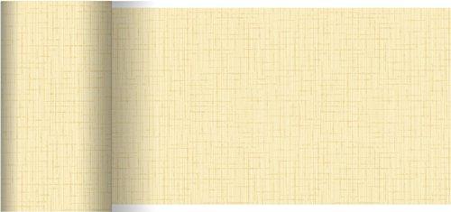 Duni Dunicel Tischläufer Linnea Cream 0,15 x 20 m
