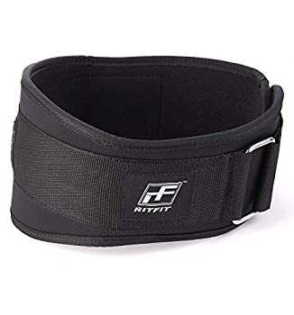 RitFit Weight Lifting Belt - Great for Squats Lunges Deadlift Thrusters - Men and Women - 6 Inch Black/Camouflage  Black XXL 52-59