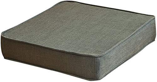 CHSDN Rizo de la Silla de ratón, Espesar No Antideslizante Amortiguador del Asiento extraíble y Lavable y Transpirable Chino for Sillas de Comedor-Brown 40x40x5cm (16x16x2inch)