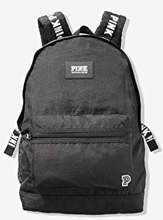 SOLD OUT ONLINE - - FULL SIZE - BLACK WITH WHITE ACCENTS. - COLLEGIATE BACKPACK, CAMPUS BACKPACK - BACK TO SCHOOL. -