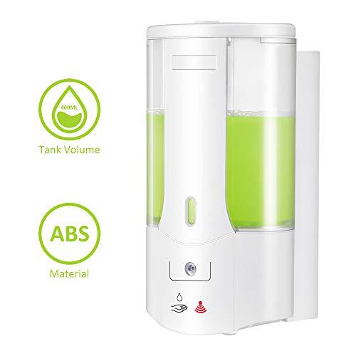 Berührungsloser Händedesinfektionsspender Automatischer Seifenspender An der Wand montierter Sensor Seifenspender 400 ml Flüssiger Infrarot-Seifenspender für die Wohnküche Arbeitsplatte Badezimmer