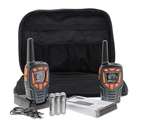 Cobra AM847 Wetterbeständig Walkie Talkie mit VOX, VibrAlert®, Anrufsignal, über 10 km Reichweite und EnergiesparFunktion (2erPack)  schwarz