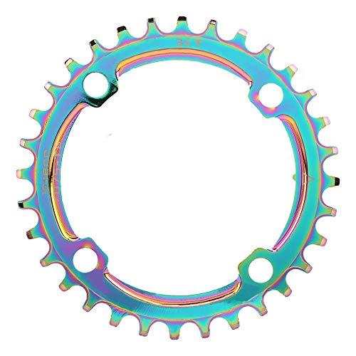 Keenso Mountainbike Kettenblatt, BCD104mm 32-38T Mountainbike Positive & Negative Zahnscheibe Kettenrad Kettenblatt (36T)