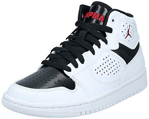 Nike Boys Jordan Access (GS) Running Shoe, White/Gym Red-Black