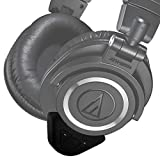 Deco Gear Wireless Bluetooth Adapter & Amplifier Compatible with Audio Technica ATH-M50X Professional Studio Monitor Headphones - Custom Flush Fit Design, Integrated Control Buttons and Built-in Amp