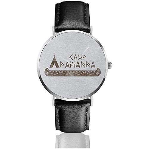 Salute Your Shorts Camp Anawanna Relojes Reloj de Cuero de Cuarzo con...