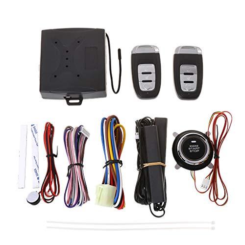 COLUDOR Auto-Sicherheits-Alarmanlage mit passiver Schlüssellose-Fernbedienung